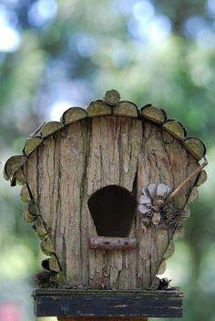 fancy wooden bird houses   Fancy Bird House by cruisefun....