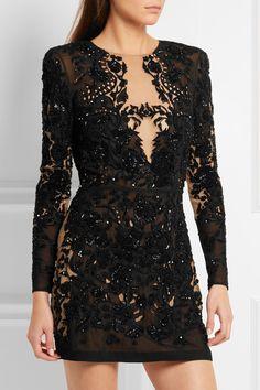 Zuhair Murad | Embellished organza mini dress | NET-A-PORTER.COM