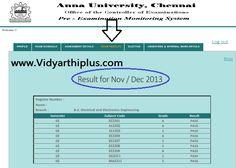 Anna University Results Nov/Dec 2013 Jan 2014 UG/PG 1st 3rd 5th 7th Sem Result Update