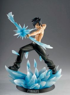 New Anime Fairy Tail Gray Fullbuster Battle Ver. Fairy Tail Gray, Anime Fairy Tail, Fairytail, Nalu, Figurine Fairy Tail, Fairy Tail Figures, Action Figures Anime, 3d Figures, Gray Fullbuster
