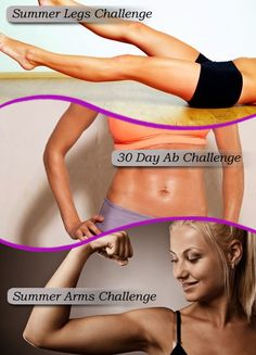 Perfect workouts to get toned - Top 3 Fitness Challenges Legs Arms and Abs. #SkinnyMs