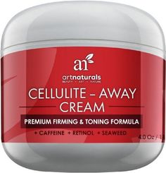 Cellulite-Away Cream With Proven Anti Cellulite Retinol, Caffeine, & Seaweed