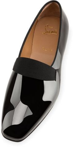 Smoker Flat Black Patent Leather - Men Shoes - Christian Louboutin - mens skate shoes, discount mens dress shoes on sale, mens wedding shoes Mens Boots Fashion, Latest Mens Fashion, Sneakers Fashion, Men's Fashion, Fashion Guide, Trendy Fashion, Fashion Outfits, Christian Louboutin Outlet, Black Patent Loafers