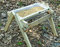 DIY Instructions: Trough Feeder for Deer (We add a cover and use this for deer minerals) Can Also be Used for Goat Minerals or feeders. Plus You Can use the Plans and Make them Taller and Sturdier for Horse & Cow Feeders and Mineral Stations.