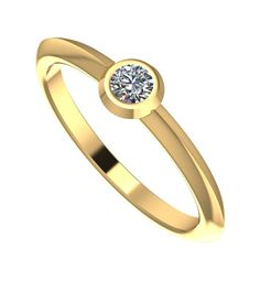 This warm and dainty yellow gold ring will brighten up your day's #engagement #ring #diamond