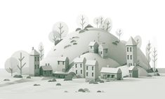 Dribbble - village_3d.jpg by Timothy J. Reynolds
