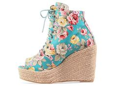 Ego and Greed Bowler ESP in Floral Fabric at Solestruck.com-$139.95