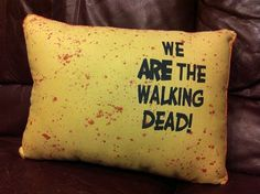 Ahh!  Walking Dead Comic pillow quote
