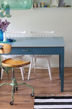 mix match table and chairs - inexpensive and unique