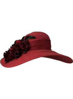 another derby hat with roses
