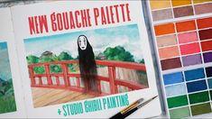 Building a Custom Gouache Palette + Painting Studio Ghibli Scenes