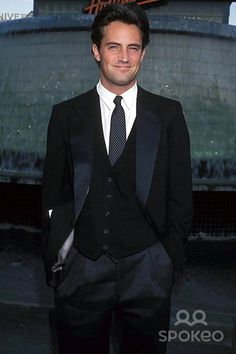 Matthew Perry...he was so cute..now not so good looking..alcohol & drugs will do it