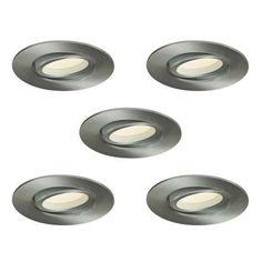 Illume Lighting Value Kit of 5 x 3.37 in. Satin Nickel Recessed LED Directional Downlight-K5LEDDOWNSW3-SN - The Home Depot