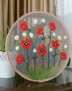 Her acidan cekip size bol bol elek fotosu attim. Cross Stitch Rose, Modern Cross Stitch, Cross Stitch Designs, Embroidery Hoop Art, Cross Stitch Embroidery, Cross Stitch Kitchen, Diy Flowers, Cross Stitching, Diy And Crafts