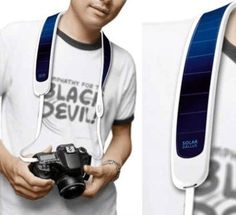 Solar Powered Camera Strap   Cool Solar Powered Inventions