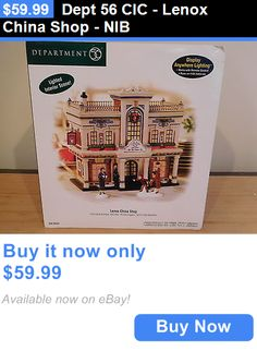 Christmas Collectible Department 56: Dept 56 Cic - Lenox China Shop - Nib BUY IT NOW ONLY: $59.99
