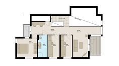 Planløsning 2. etasje. House By The Sea, Nova, Floor Plans, Floor Plan Drawing