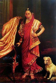 Princess Tharabai (Reprint on Paper - Unframed)