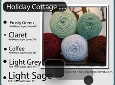 Cottage Holiday Yarn Colours