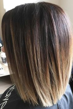 Ombre Long Bob Hairstyle With Layered Edges #layerededges  ★ Medium length hairstyles can look amazingly beautiful on every woman. Such haircuts look classy, yet stylish, beautiful, yet bold. Look our collection of the best medium length hairstyles! #mediumlengthhairstyles #mediumhair #bobhaircut #shoulderlengthhairstyles #hairstyle