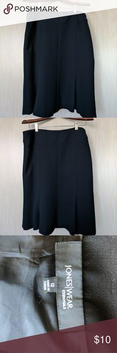 Last chance- Black skirt(perfect for interviews) Black, slightly flared skirt. Perfect for interviews! Jones New York Skirts Midi