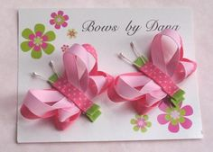 >>>Pandora Jewelry OFF! >>>Visit>> Bows by Dana - she makes the cutest bows EVER. Great ideas to make (or just buy them for cheap! Ribbon Art, Ribbon Crafts, Ribbon Bows, Ribbon Flower, Making Hair Bows, Diy Hair Bows, Crafts For Girls, Fun Crafts, Band Kunst