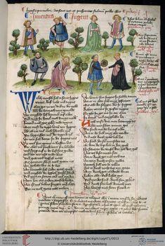 Hugo von Trimberg: Der Renner ; 'Tafel der christlichen Weisheit'  Nürnberg, 1425-1431/zwischen 1439 und 1444