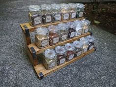 Apothecary Spice Rack with 18 Spice Jars - Magic Potions / Alchemy / Medieval Style Magic Decorations, Halloween Decorations, Magic Cook, Aubrey Miller, Just Add Magic, Healthy Food, Healthy Recipes, Spice Storage, Magic Recipe