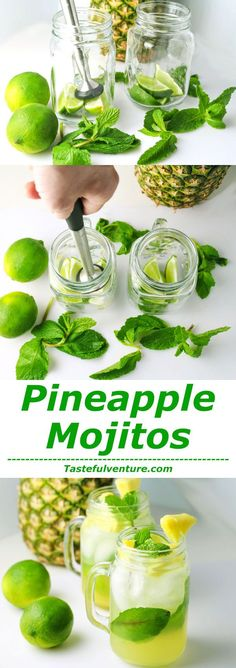 These Pineapple Mojitos are so light and refreshing, it's the perfect Cocktail! | http://Tastefulventure.com