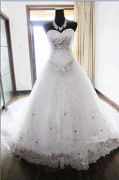 Bling wedding dress! | I do | Pinterest | Wedding, A girl and ...