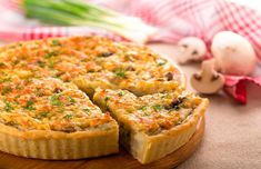 What does everybody love having on the side? A savory pie! So, the Easter Mushroom Quiche Lorraine is the recipe I am giving you today! Breakfast And Brunch, Breakfast Quiche, Quiche Recipes, Pastry Recipes, Chicken Quiche, Mushroom Quiche, Easy Quiche, Savory Muffins, Great Recipes