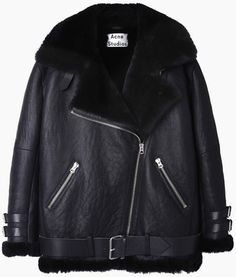 Acne Studios Velocite Shearling Jacket / A + + + + +