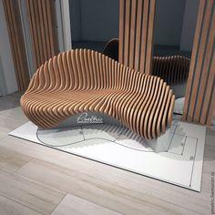 Купить параметрическая скамья - комбинированный, параметрический, параметрика, скамья, диван, bench, фанера