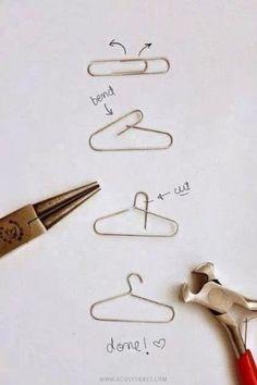 Nette Idee aus einer Büroklammer. Kann man wunderbar für Geschenke einpacken und Karten basteln verwenden.