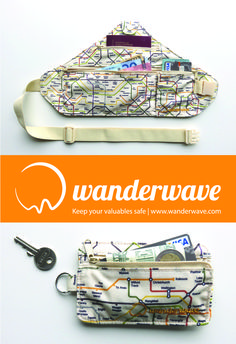 The WANDERBELT | Are uncomfortable money belts a necessary evil? Not anymore now the Wanderbelt has arrived. On your next trip, keep you valuables safe with the most comfortable, practical and discreet money belt, especially designed for travelling women. Now available with special travel map print. #TravelGearForWomen