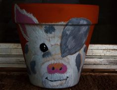 Patches the Pig 8.25 inch pot acrylic