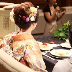 | ZQN♡ Bridal Make Up, Bridal Hair, Down Hairstyles, Wedding Hairstyles, Wedding Kimono, Japanese Wedding, Hair Arrange, Japanese Hairstyle, Pre Wedding Photoshoot