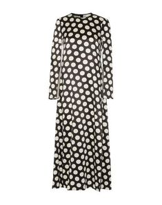 Satin No appliqués Polka-dot Round collar Long sleeves No pockets Front slit Rear closure Hook-and-bar Zip Unlined Satin, Calvin Klein Collection, Bar, Dress Outfits, Dresses, World Of Fashion, Clothes For Women, Long Sleeve, Sleeves