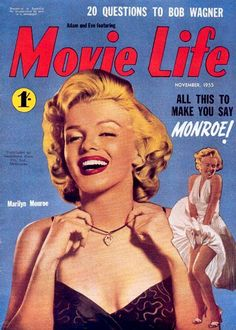 Marilyn Monroe Movie Life Cover Copyright 1955 - www.MadMenArt.com | Actress…