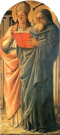 Learn more about Four Doctors Triptych St Gregory and St Jerome Fra Filippo Lippi - oil artwork, painted by one of the most celebrated masters in the history of art. Saint Gregory, St Jerome, Italian Renaissance, Silhouette, Italian Art, Turin, Great Artists, Milan, History