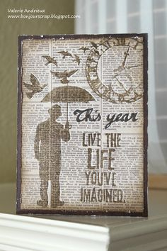 New Year card in (Tim Holtz) style - Scrapbook.com