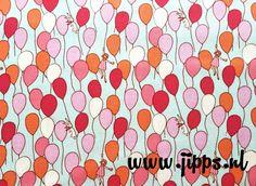Michael Miller Balloons Sarah Jane Cotton Fabric Fat Quarter or Jane And Michael, Sewing Crafts, Sewing Projects, Michael Miller Fabric, Gorgeous Fabrics, Birthday Balloons, Kids Playing, Print Patterns, Pink