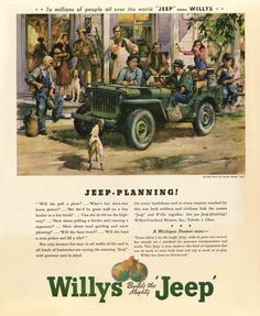 American Heritage: 1944 Jeep Willys Ads