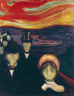 Painting by Edvard Munch (1863-1944), 1894, Anxiety, oil on canvas.