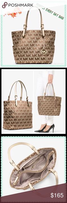 """NWT⚜Authentic Spacious Michael Kors Tote⚜ -Jacquard -Two Top Handles -Two Exterior Pockets, Interior Zip Pocket, Interior Cell Phone Pocket, Three Interior Pouch Pockets, Keyfob -14"""" x 11"""" x 5"""" -Zip Compartment, Open Top Michael Kors Bags Totes"""