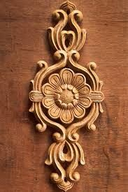 Wooden Wood Carving Designs, Wood Carving Patterns, Wood Carving Art, Wood Art, Wooden Main Door Design, Wood Design, Wood Rosettes, Cement Art, Door Design Interior