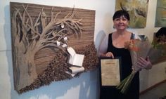 Tableau réalisé pour une exposition pour lequel j'ai reçu le prix d'excellence  ... Top fière