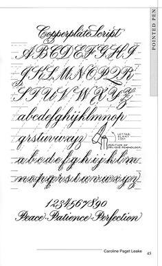 Calligraphy exemplar