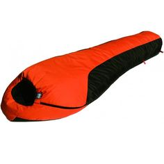 High Peak USA Alpinizmo Mt. Rainier -20 Sleeping Bag, Orange. 34X86X22; Fill weight 3lbs 8oz; Carry weight 5lbs 14oz; Invista Thermo lite Quall insulation; Double Layer construction; Rip stop Nylon shell; Invista Tactile Nylon Lining. Temp rating at -20F; Sew-in Draft Tube and Chest Collar; Hood with Drawstring closure and barrel lock. Two bags can be zipped together; No.5 YKK Anti snag zipper; This bag is water proof; wind proof; breathable. Windshield; Anti snag Zipper band; Thermal...