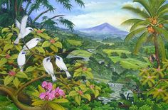 Hand Painting Balinese Bali